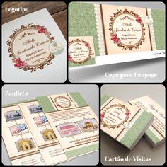 Ateliê Flora Design Gráfico: Trabalho Realizado: Logotipo / Identidade Visual p...