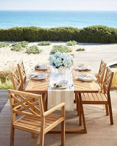 The best outdoor furniture starts with the best materials. Take teak, for instance. Widely renowned for its durability and resistance to rotting, teak is almost impervious to the effects of sun, rain, frost, and snow. // Click the link in profile to shop our teak furniture collections.