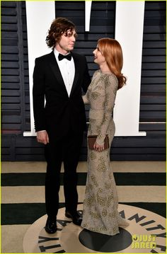 Emma Roberts and Evan Peters at the 2017 Vanity Fair Oscar Party #Oscars