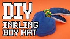 Splatoon Inkling Boy Hat templates - Find the Tutorial here: www.youtube.com