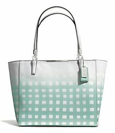 COACH MADISON EAST/WEST TOTE IN GINGHAM SAFFIANO LEATHER | Dillard's Mobile