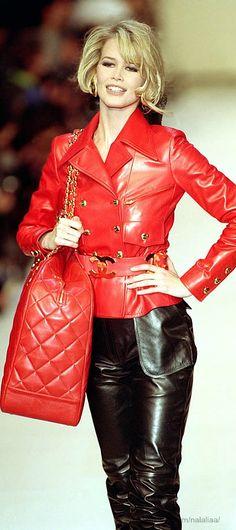#Chanel 1991 - Model : Claudia #Schiffer Still screams School of Flaunt style!