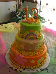 70's Theme Birthday Cake | Flickr - Photo Sharing!