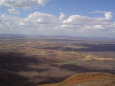 Vista de cima da serra