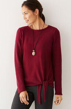 Pure Jill side-tie pullover sweater