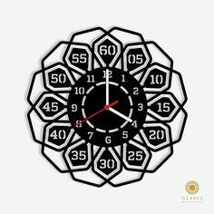Fabulous Flora Modern Wall Clock