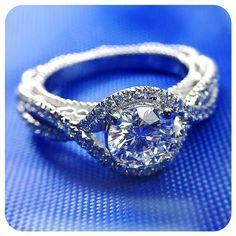 Be my something blue... Engagement rings by @Verragio [Venetian-5026]
