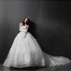 wedding dress - http://zzkko.com/n215364-013-latest-Korean-luxury-trailing-wedding-sweet-and-elegant-long-tail-Princess-Wedding-FQ43.html $27.10