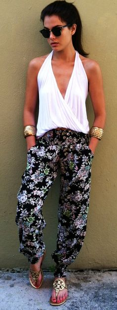 Pants + Tory Burch Miller Sandals