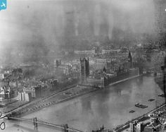 The Palace of Westminster and Westminster Abbey, London, from the south-east, 1921