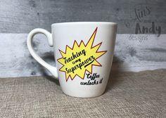 Teaching is my Superpower Coffee Unlocks It 14 oz Coffee Mug