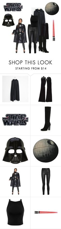 """Star Wars - Darth Vader"" by analeticia2904 ❤ liked on Polyvore featuring River Island, Helmut Lang and Miss Selfridge"