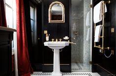 love the metallic tiles / Hotel Providence - Garance Doré