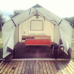 if i had to live in a tent this would be the way i would do it.