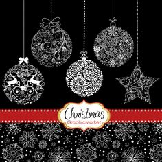 Instant Download Christmas Digital Clip Art Card by GraphicMarket, $4.99