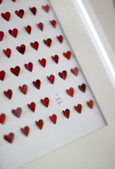 I recently shared these awesome framed hearts  from Sarah & Bendrix. Since there wasn't time for me to order one before Valentines Day, I de...