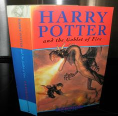 Harry Potter and the Goblet Of Fire - J.K Rowling PB, 2000 BloomsBury, line British Books, Goblet Of Fire, Chamber Of Secrets, Young Adult Fiction, Prisoner Of Azkaban, Fantastic Beasts And Where, Harry Potter Books, First Novel, Bloomsbury