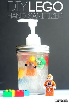 DIY Lego Natural Hand Sanitizer | Great gift idea for dads, birthday, or any occasion really!