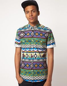 ASOS Shirt With Aztec Print