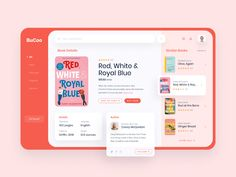 Bucoo - Books Store App by Marina Mizoguchi for Sobat Studio on Dribbble Design Ios, Interface Design, User Interface, Graphic Design, Website Design Inspiration, Ui Inspiration, Web Layout, Layout Design, Sketch Design