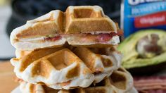 Grilled Cheese Waffles with Bacon and Avocado Recipe - Pillsbury.com
