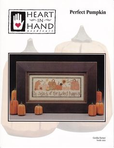Perfect Pumpkin Cross Stitch Pattern, Autumn Decor for Halloween or Thanksgiving