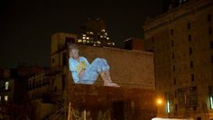 Projection napping- showing sleep in the city that never does