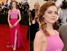 6a7cae6fcb45 Emma Stone In Thakoon - 2014 Met Gala - Red Carpet Fashion Awards