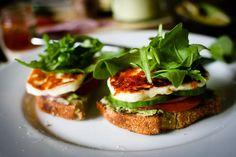 Halloumi Open Sandwich ~ Looks Yummy!!