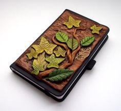 Art Journal Notebook Leaves and Tendrils Polymer by MandarinMoon