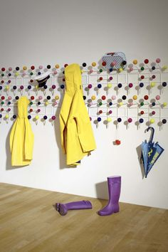 Love this!! Colourful order with Vitra's Hang it all by Charles & Ray Eames, 1953 VitraHaus, March 2013 Photographer: Lorenz Cugini © Vitra