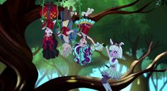 Ever After High : Lizzie, Alister, Madeline and Bunny