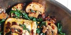 Mushroom Ravioli with Spinach - newsronian Cheesecake Recipe From Scratch, Easy Cheesecake Recipes, Easy Salads, Healthy Salad Recipes, Crockpot Ham And Beans, Mushroom Ravioli, Great Northern Beans, Stuffed Mushrooms, Stuffed Peppers