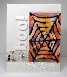 Mama Dini's Stamperia: Splitcoast Tutorial: Hot Glue Embossing