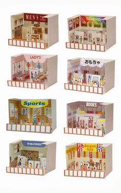 dollhouse paper: Ciudad, casas, city by toshibatec Paper Pop, Diy Paper, Paper Crafts, Paper Doll House, Paper Houses, Cardboard City, Homemade Dolls, Mini Craft, Diy Gift Box