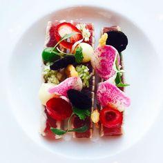 p r e t t y  f o o d  @thediningroomsydney @parkhyattsydney @chefetiennekarner {tuna with fennel pickled grenadine shallots green apple condiment } . . . . . #foodporn #sydney #chef #happy #foodlovers #topchef #masterchef #chefstalk #gourmet #truecooks #hyatt #parkhyatt #foodie #yummy #foodstagram #australia #sharefood #delicious #culinary_talents #tuna #apple #picoftheday