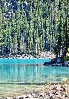 Lake Minnewanka, Alberta, Canada. Worth pinning for the name of the lake alone!
