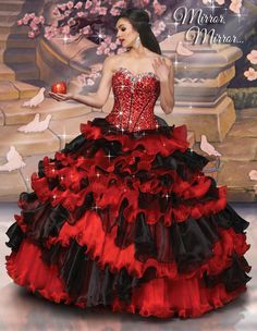 Disney Royal Ball Quinceanera Dress Snow White Style 41057