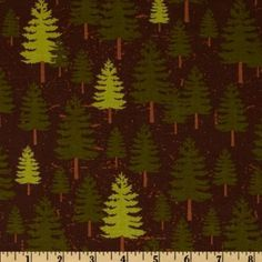 Amazon.com: 44 Wide Riley Blake Elk Ridge Pine Trees Brown Fabric By The Yard: Arts, Crafts & Sewing #schenanigans #mooseknuckle #cabin #lakearrowhead