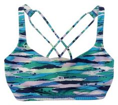 Lululemon Blue Green White Free To Be Wild Activewear Sports Bra Size 4 (S) Denim Shoulder Bags, Leather Shoulder Bag, Yoga Gym, Chanel Classic Flap, Brown Leather Totes, Sports Bra Sizing, Black White Stripes, Lambskin Leather, Blue Denim