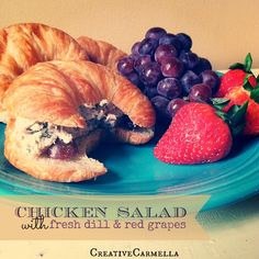 Creative Carmella: Chicken Salad with Fresh Dill and Red Grapes