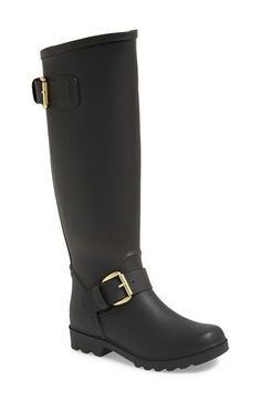 Steve Madden 'Dreench' Rain Boot (Women) at Nordstrom.com. Your feet will stay dry—and chic —in a knee-high rain boot constructed with an exposed contrast zipper and dual goldtone buckles. Stay a step ahead in Steve Madden's trend-leading styles and easy-to-wear silhouettes. Inspired by rock and roll and fused with a jolt of urban edge, Madden creates products that are innovative, sometimes wild and always spot-on-chic.