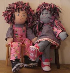 I've made a girl and a boy doll, they are really cute dolls that need not cost a fortune to make. Just imagination. (Some bright spark will ...