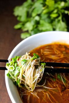 The ultimate umami crispy pork pho totally not authentic but a fusion of so much goodness it doesn't matter. Make delicious pho under 30