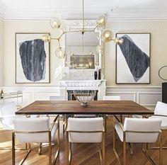 modern glam dining room