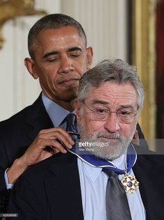 U.S. President Barack Obama presents the Presidential Medal of Freedom to actor Robert De Niro during an East Room ceremony at the White House November 22, 2016 in Washington, DC. The Presidential Medal of Freedom is the highest honor for civilians in the United States of America.