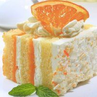 Orange Creamsicle Cake... Jeff loved this one too!!  Cool and creamy summer dessert.  I don't know about the creamsicle thing, but it was refreshing!!