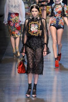 Going for Baroque: ornate clothing brings drama back to fashion.