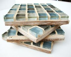 Make your own tile coasters with simple tutorial.
