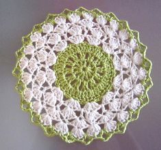 Another worsted weight doily for under the china teapot or other dish. This one is an emerald. Happy St. Patrick's Day…a little early.